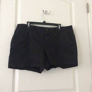 Women's OLD NAVY D07 Solid Black Shorts Size 14